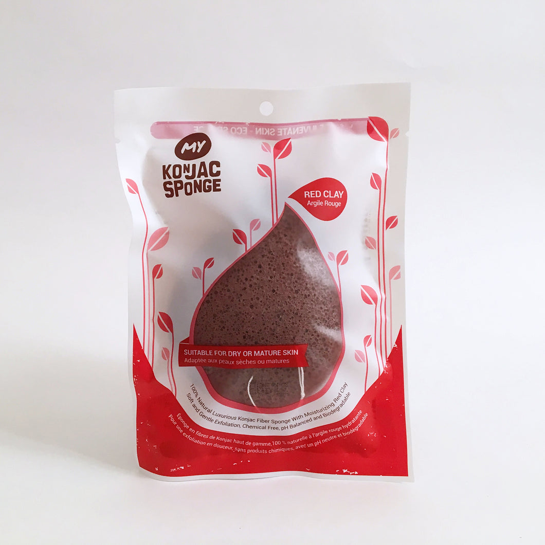 French Red Clay Facial Konjac Sponge