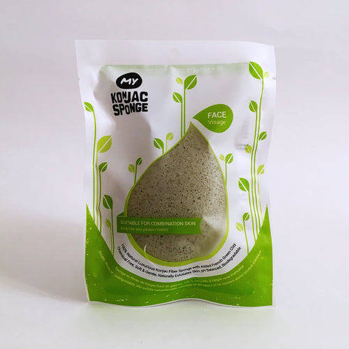 French Green Clay Facial Konjac Sponge