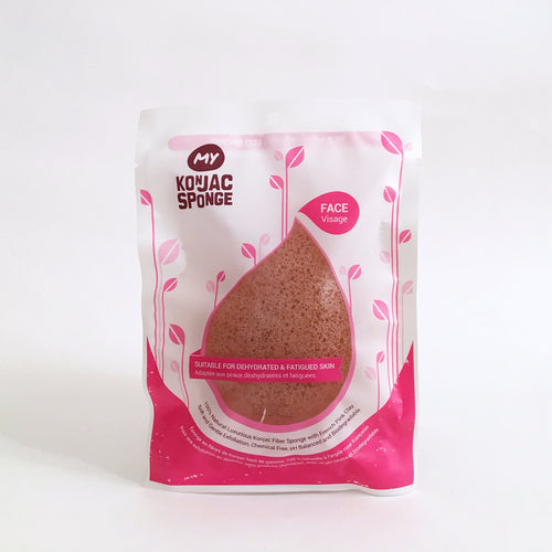 French Pink Clay Facial Konjac Sponge