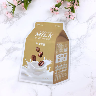 Coffee Milk One Pack Mask Sheet