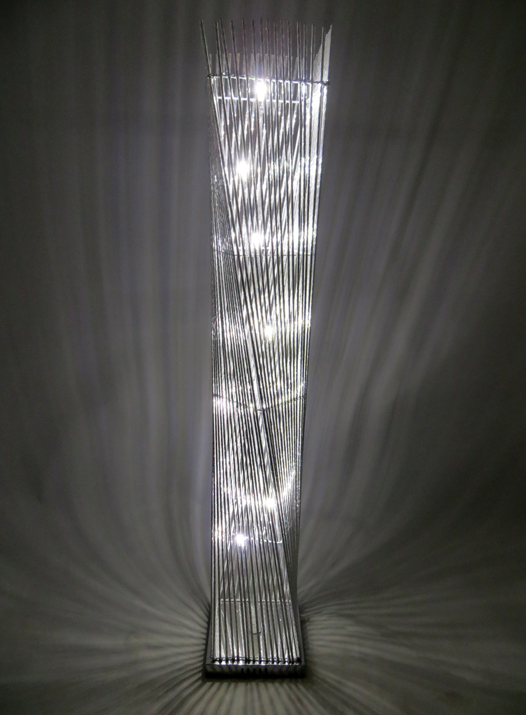 Cayan Tower Silver Twisted Wire Floor Lamp – Spiffing - Modern Home ...