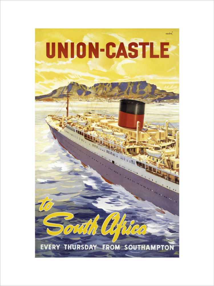Union-Castle Line Poster South Africa