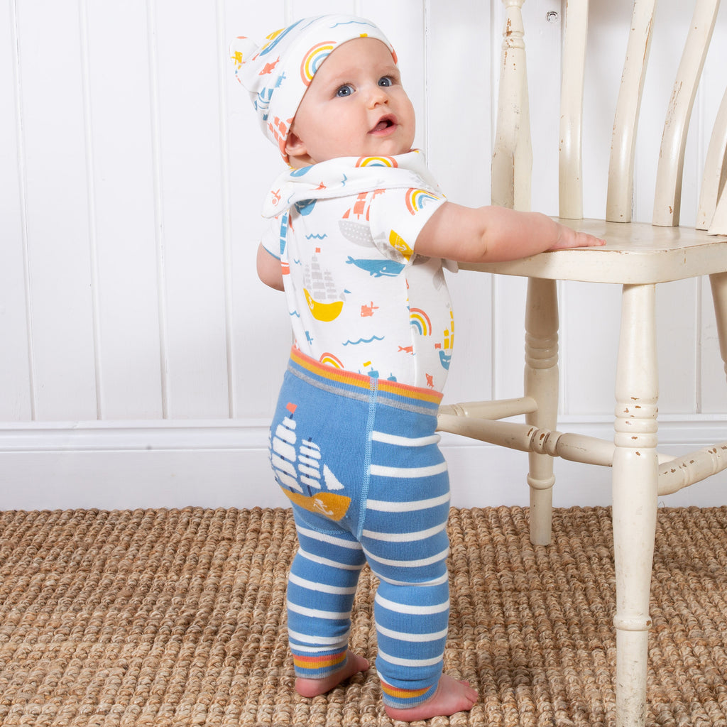 Organic Cotton Baby's Ship Ahoy Bodysuit -
