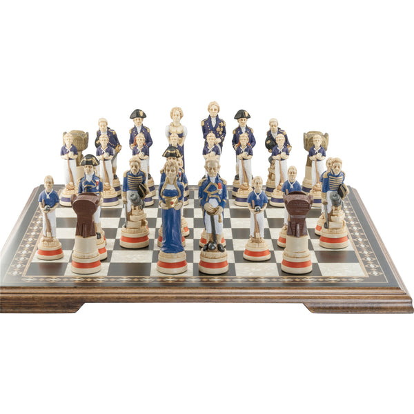 Hand Painted Battle of Trafalgar Chess Set