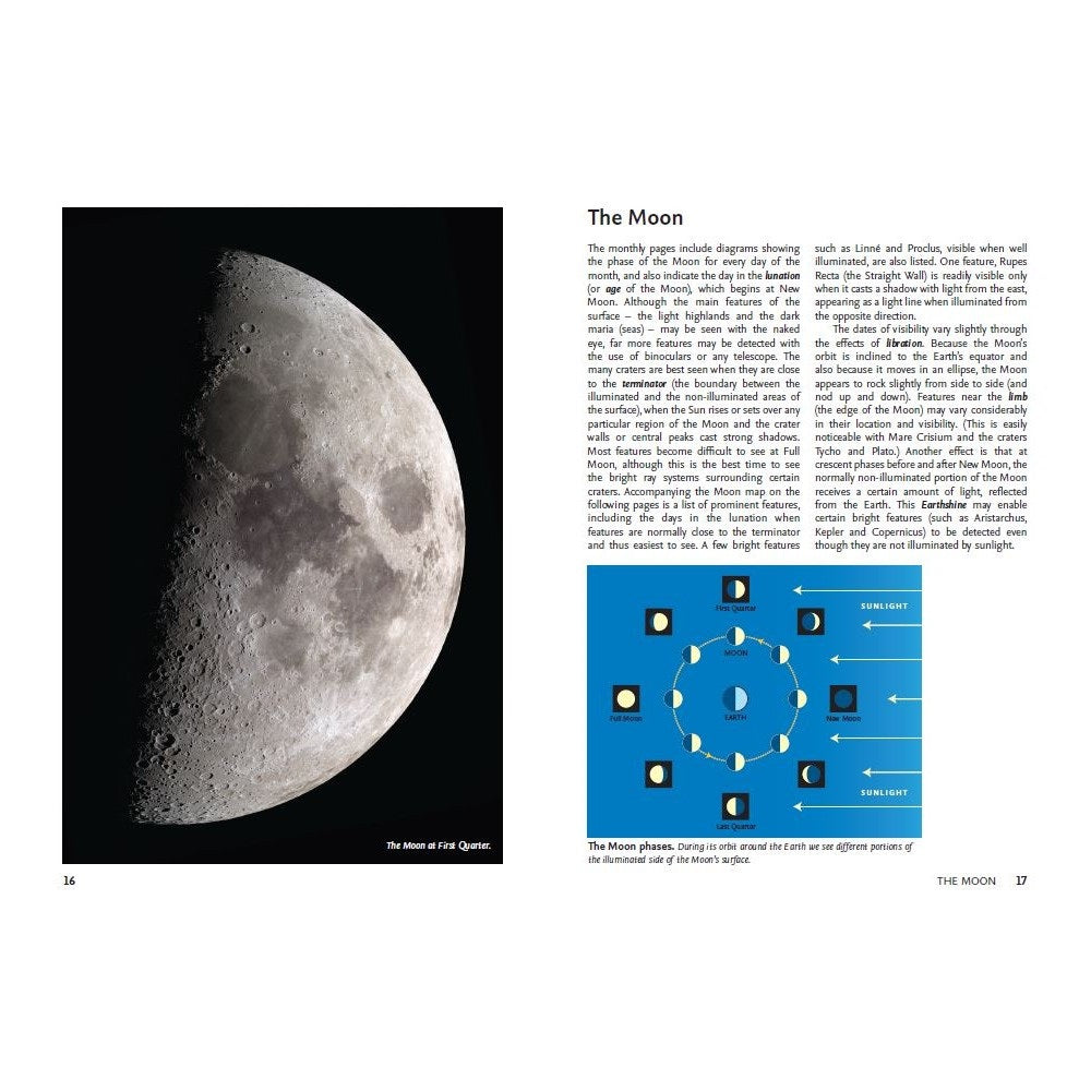 2021 Guide to the Night Sky pages - The Moon