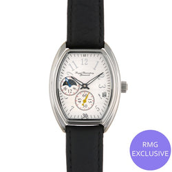 Chrome Oval Moondial Watch