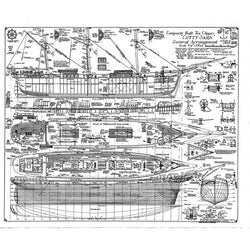 Cutty Sark General Arrangement Plan A1 Print