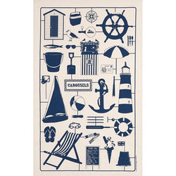 Nautical motif tea towel