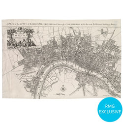 1720 London Map Tea Towel