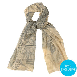 1720 London Map Scarf