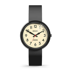 Electric Black Silicone Watch