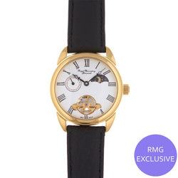 Gold Circular Moondial Watch