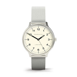 Cream Dial Blip Watch - Mesh Strap