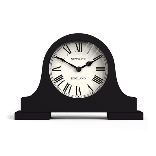 Black Mantelpiece Library Clock