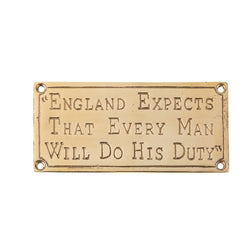England Expects Brass Plaque