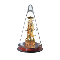 Skeleton Pyramid Brass Table Clock