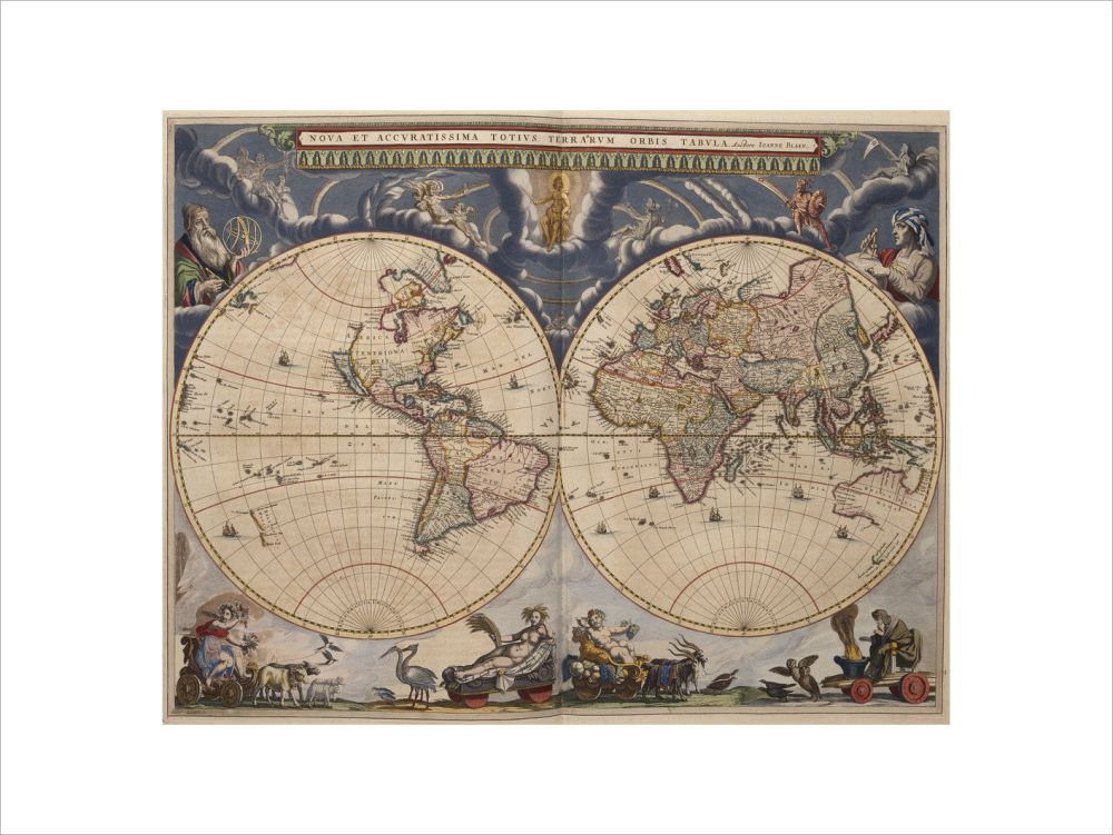 World Map from the Blaeu Atlas