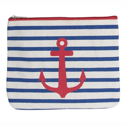 Stripy Anchor Wash Bag