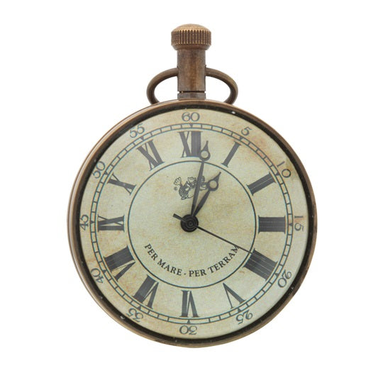 Bronze Eye Of Time Table Clock