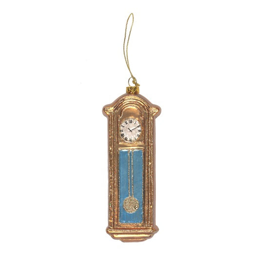 Glass Grandfather Clock Decoration