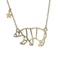 Great Bear Gold Plated Necklace