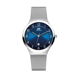 Blue Face Mesh Strap Watch