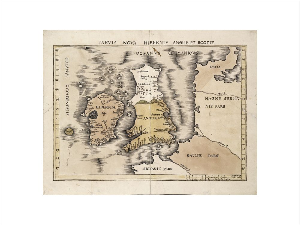 Map of England, Ireland and Scotland