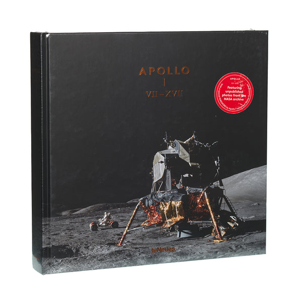 Apollo VII - XVII book cover showing Buzz Aldrin and lunar module on the moon