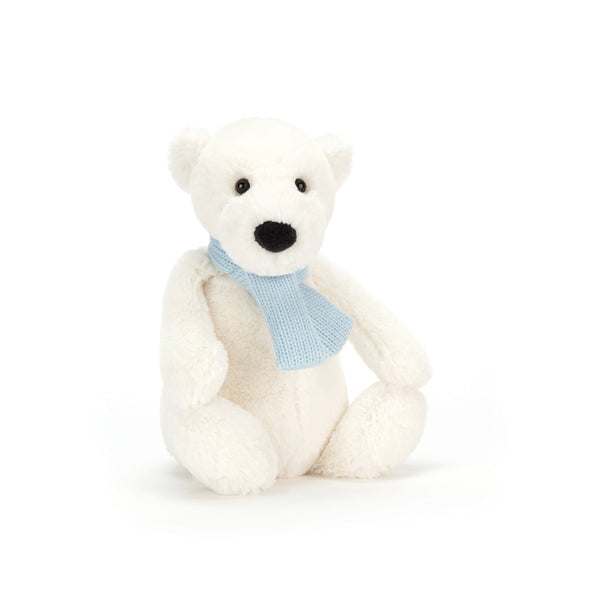 Polar Bear with Scarf Soft Toy