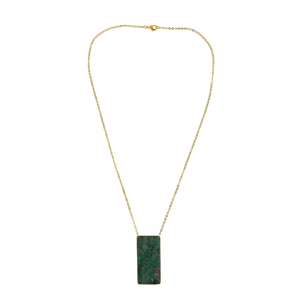 Cutty Sark Brass Vertical Necklace Gold Plated