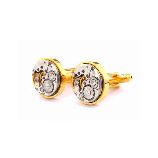 Watch Movement Cufflinks Gold