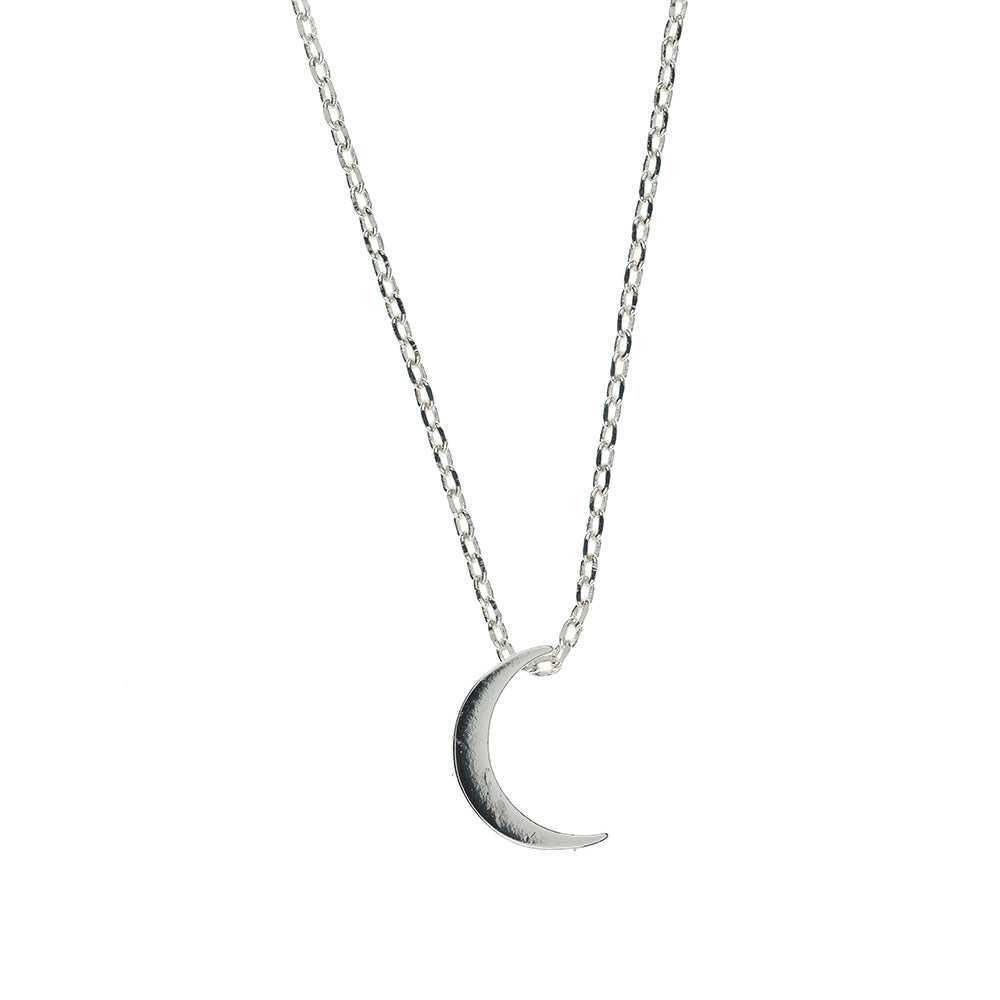 Silver Crescent Moon Necklace