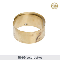 Thick, flat bangle of Cutty Sark brass