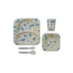 Bamboo Deep Sea Dining Set