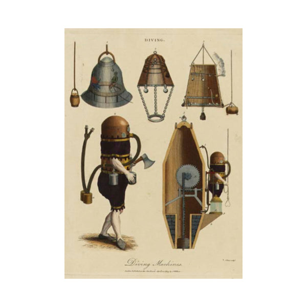 Diving Machines Greetings Card