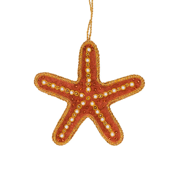 Embroidered Starfish Christmas Decoration