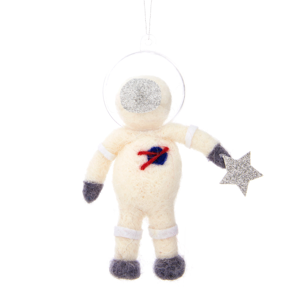 Wool Felt Astronaut Christmas Decoration
