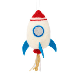 Wool Felt Rocket Christmas Decoration