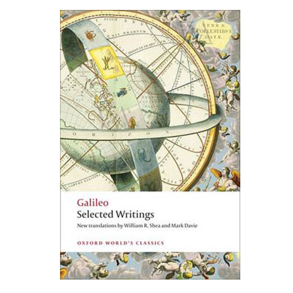 Book: Galileo - Selected Writings.  Cover shows an illustration of an armillary sphere.