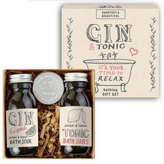 gin and tonic bath set packaging