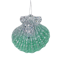 Glitter Clam Shell Christmas Decoration