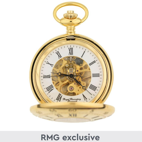 Gold finish H4 inspired pocket watch in Royal Observatory Greenwich presentation box