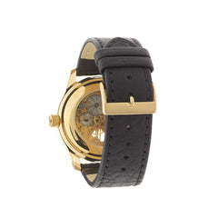 Gold Circular Skeleton Watch