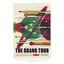 Grand Tour NASA 50 x 70 cm Poster