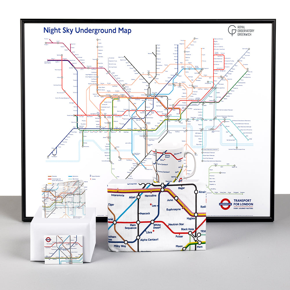 Night Sky Underground Map Magnet -