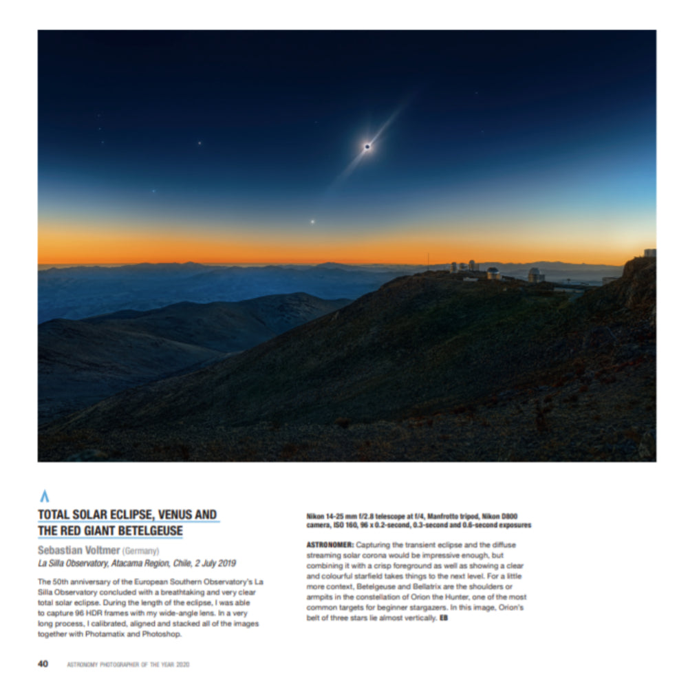 Insight Investment Astronomy Photographer of the Year 2020 catalogue page