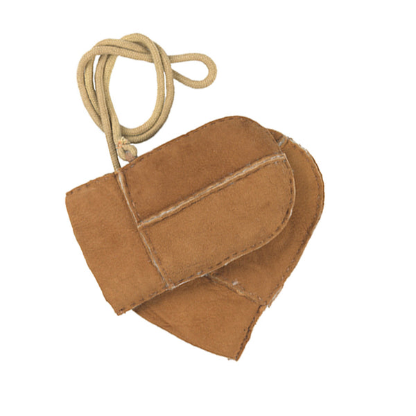 Sheepskin Mittens on String
