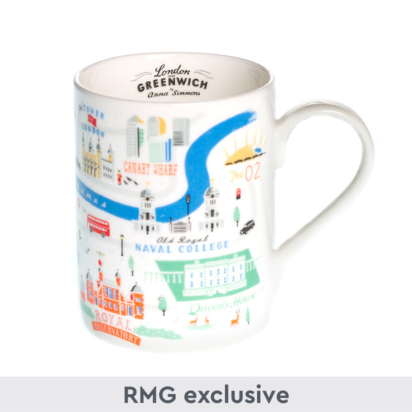 London & Greenwich Map Mug