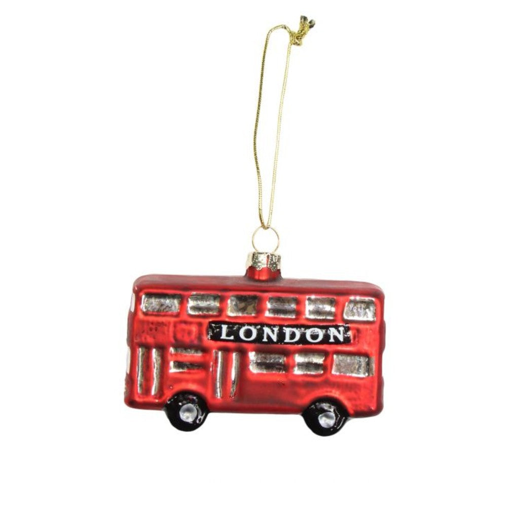 Glass London Bus Decoration