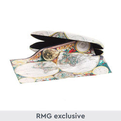World Map Glasses Case